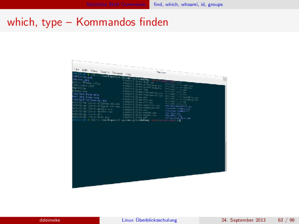 N¨ utzliche Shell Commands find, which, whoami, ...