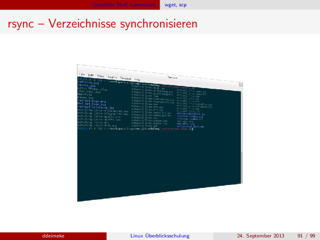N¨ utzliche Shell Commands wget, scp rsync – Ve...