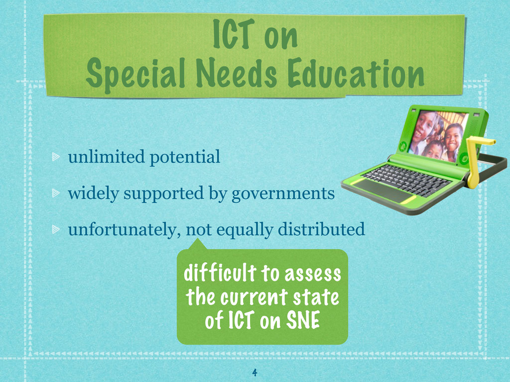 ICT on Special Needs Education unlimited potent...