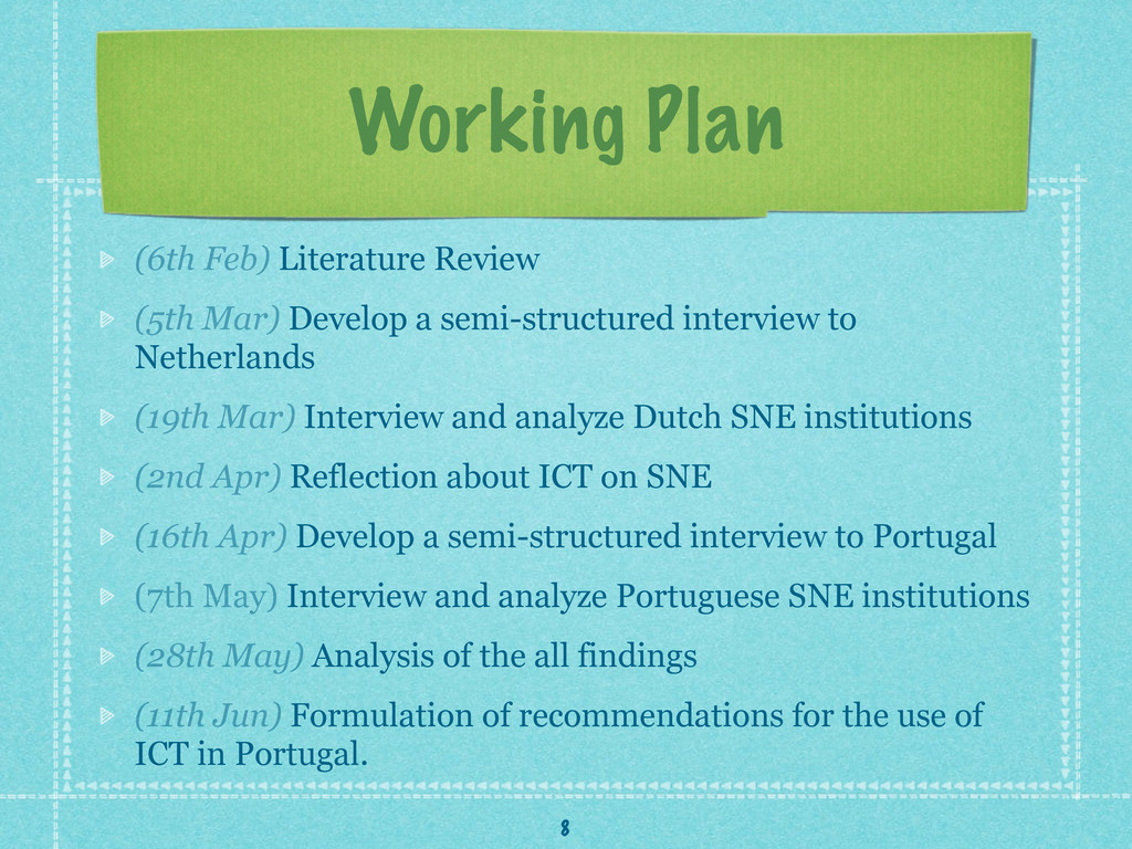 Working Plan (6th Feb) Literature Review (5th M...