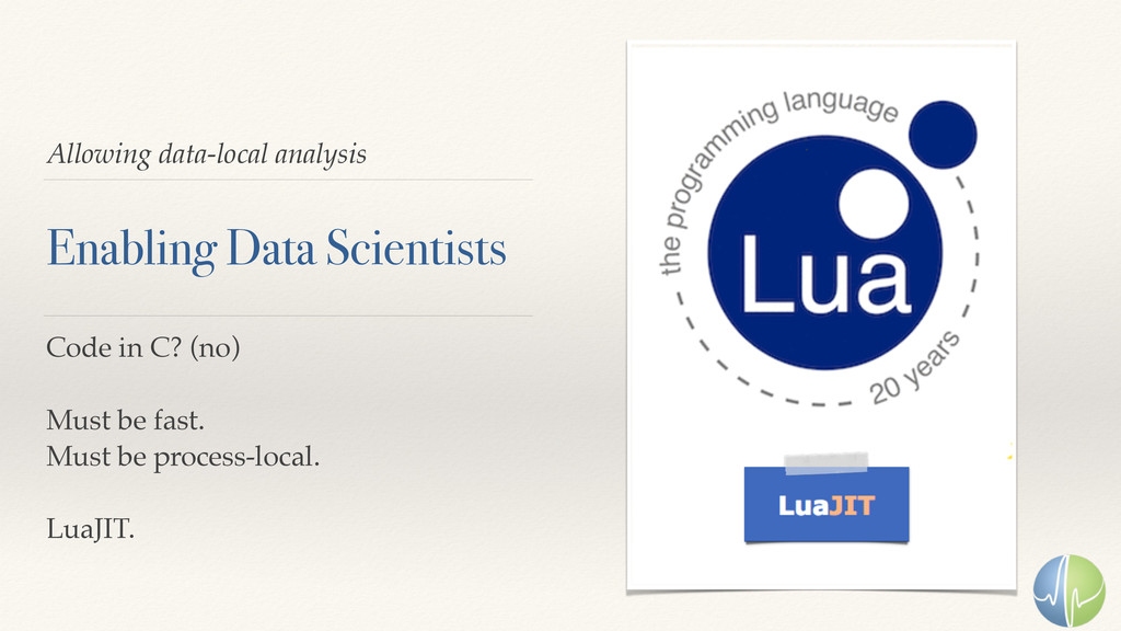 Allowing data-local analysis Enabling Data Scie...