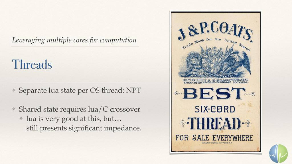 Leveraging multiple cores for computation Threa...