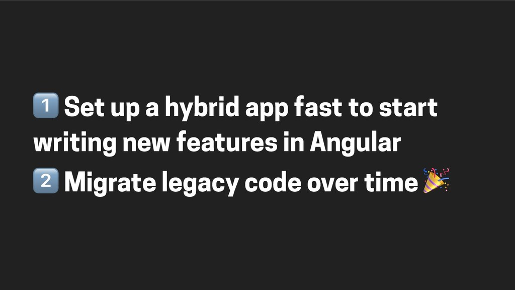 & Set up a hybrid app fast to start writing new...