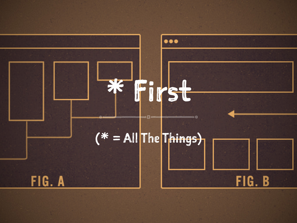 * First (* = All The Things)