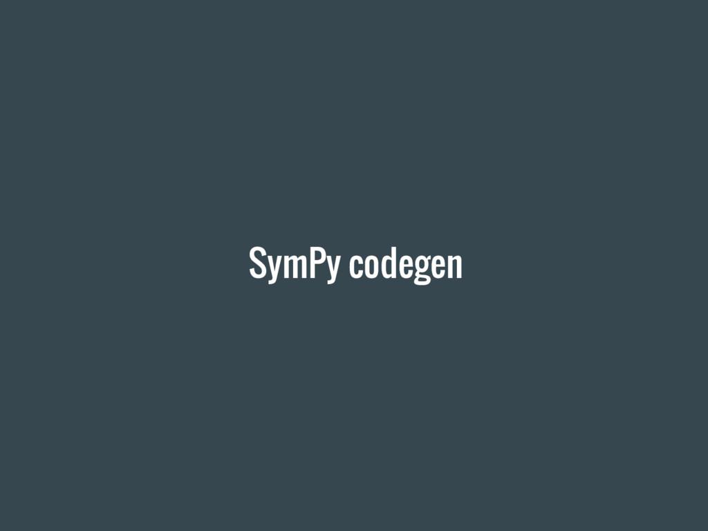 SymPy codegen