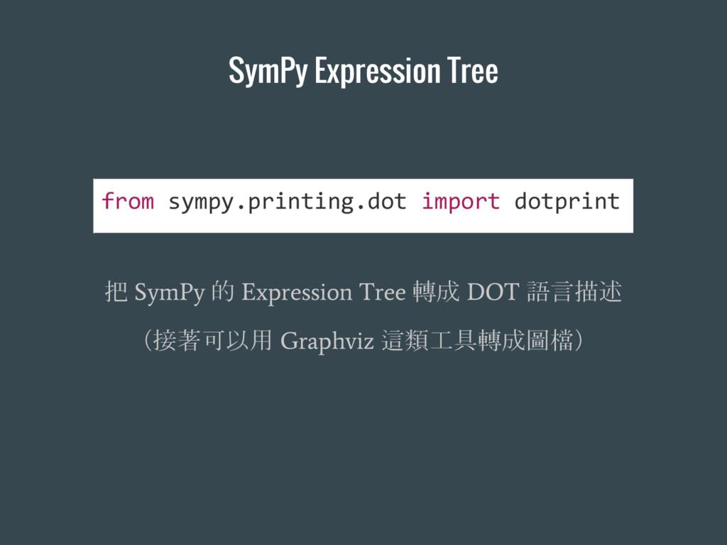 SymPy Expression Tree 把 SymPy 的 Expression Tree...