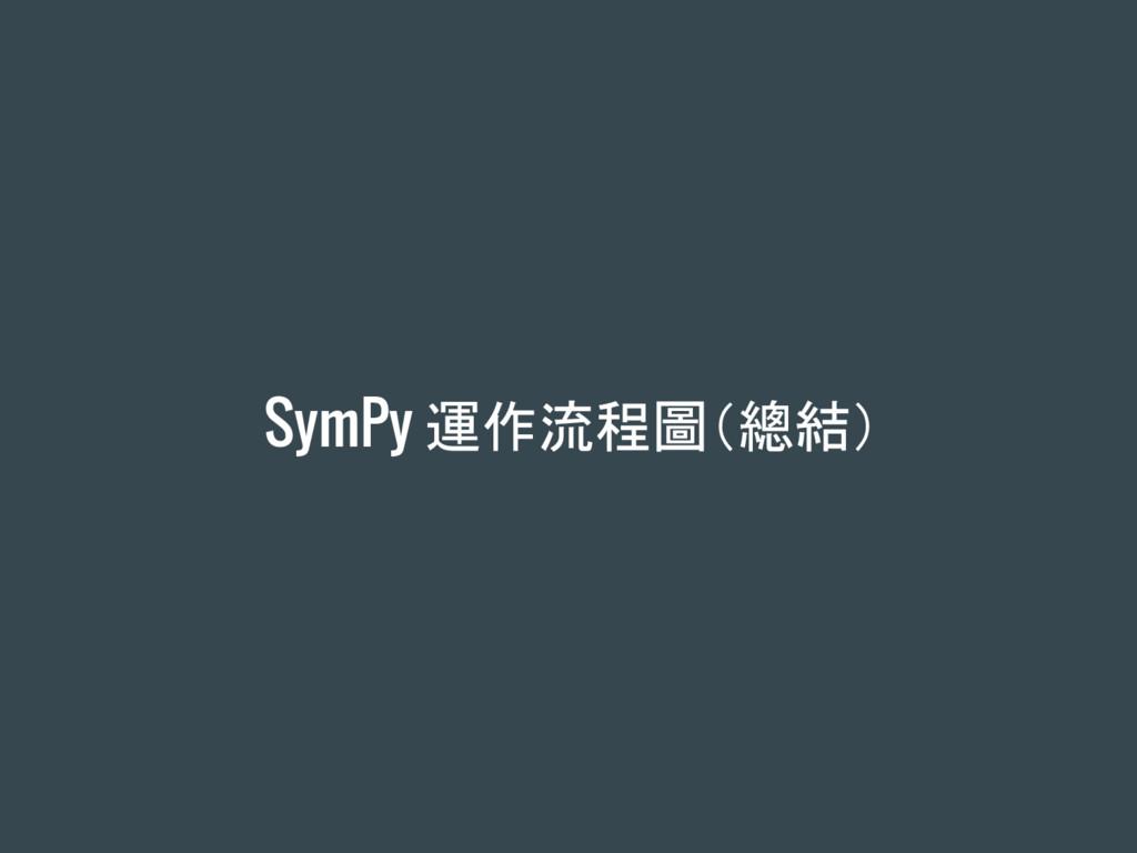 SymPy 運作流程圖(總結)