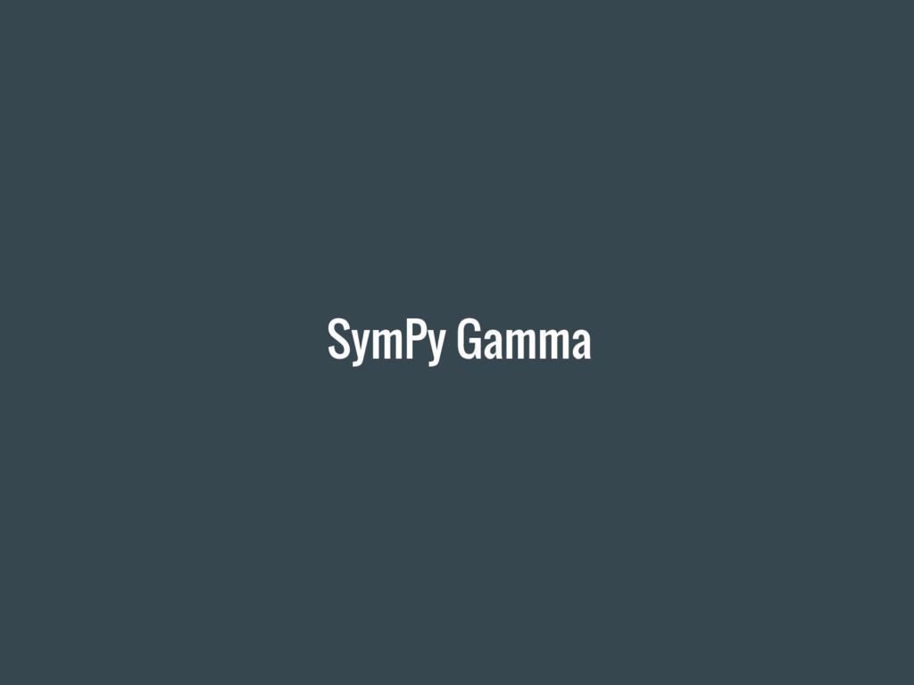 SymPy Gamma