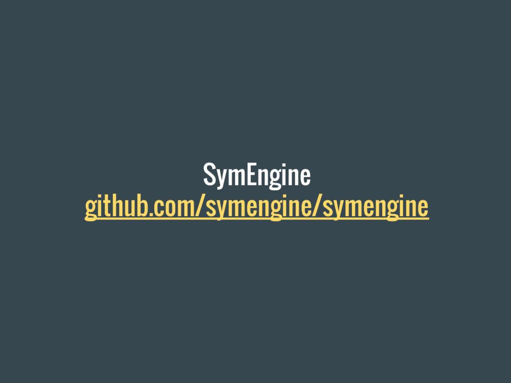 SymEngine github.com/symengine/symengine