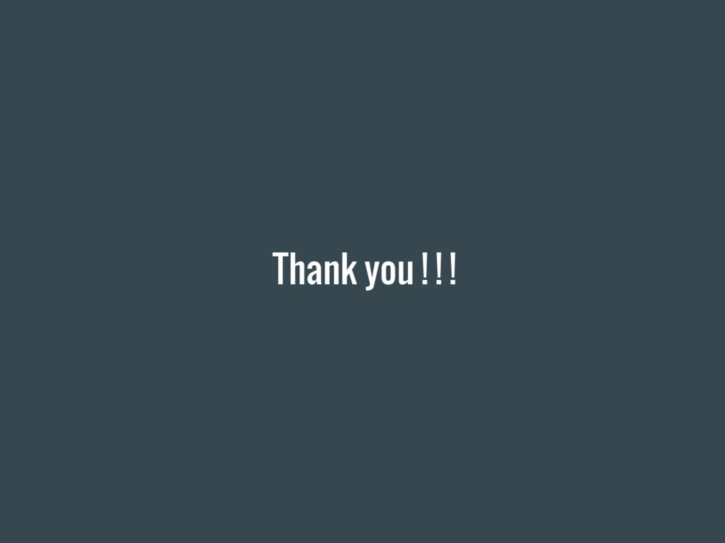 Thank you ! ! !