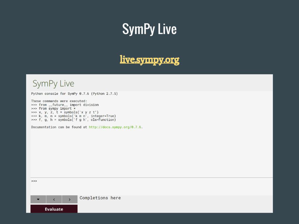 SymPy Live live.sympy.org