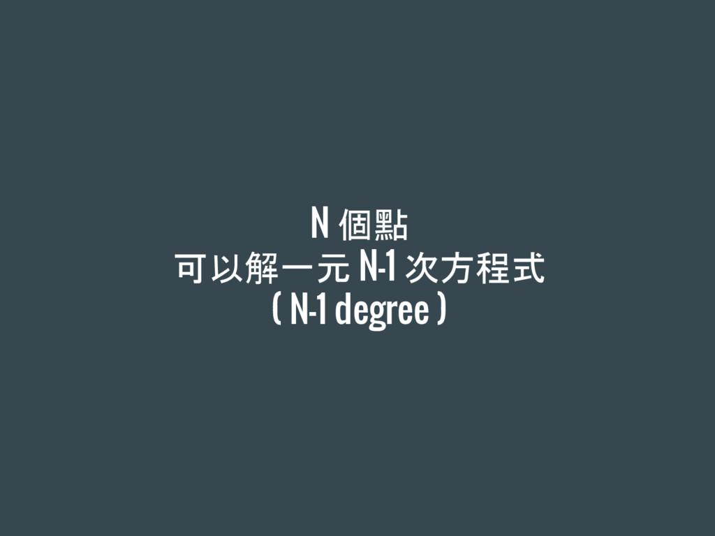 N 個點 可以解一元 N-1 次方程式 ( N-1 degree )