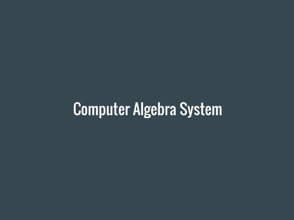 Computer Algebra System