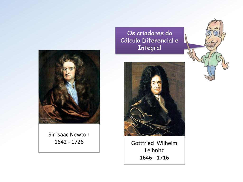 Sir Isaac Newton 1642 - 1726 Gottfried Wilhelm ...