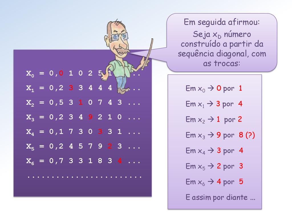 X0 = 0,0 1 0 2 5 1 7 ... X1 = 0,2 3 3 4 4 4 5 ....