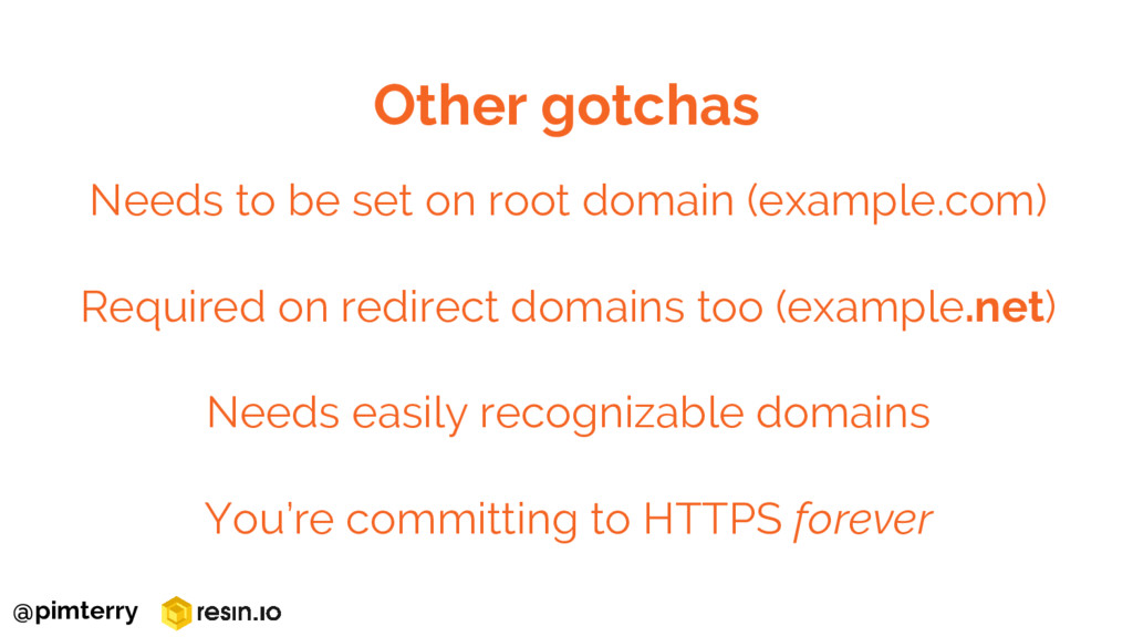 Needs to be set on root domain (example.com) Re...