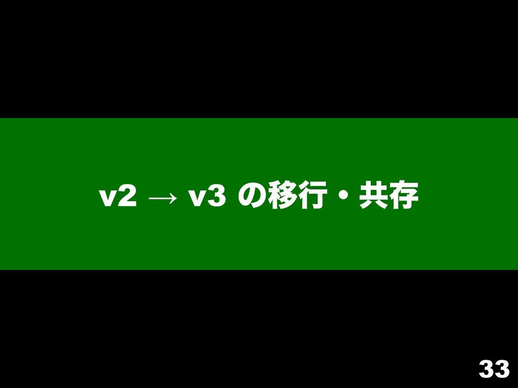 v2 → v3 ͷҠߦɾڞଘ 33