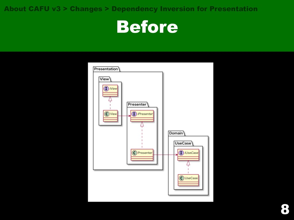 8 Before About CAFU v3 > Changes > Dependency I...