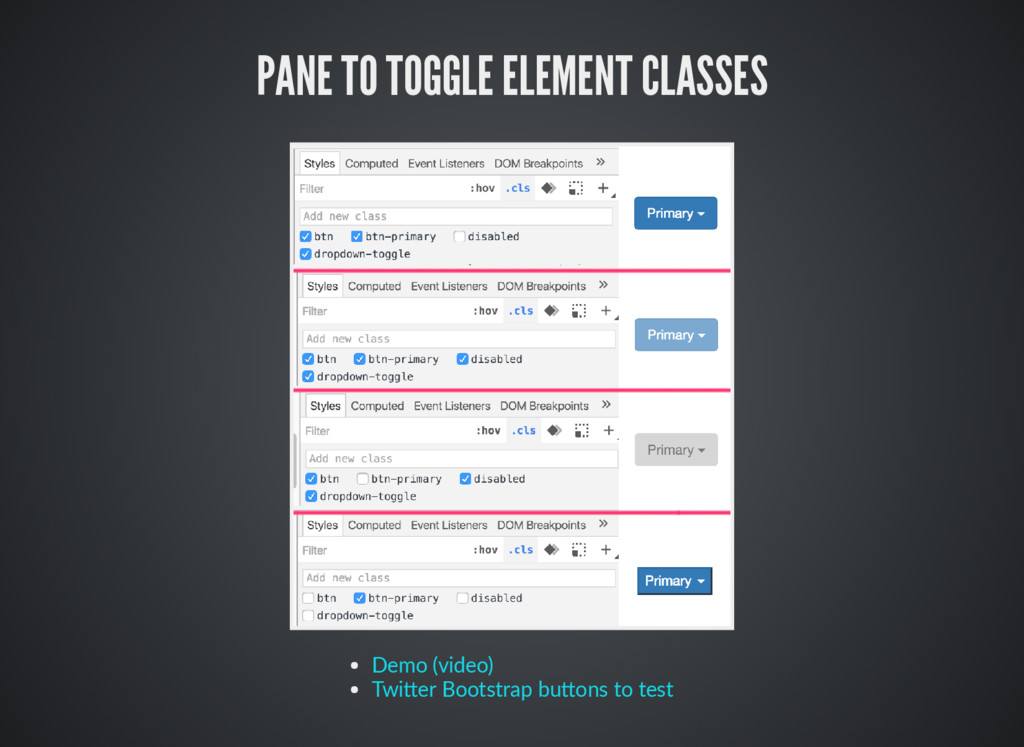 PANE TO TOGGLE ELEMENT CLASSES Demo (video) Twi...