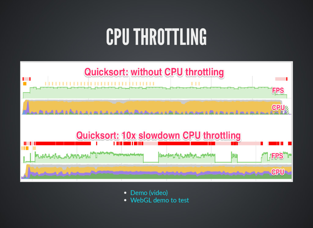 CPU THROTTLING Demo (video) WebGL demo to test