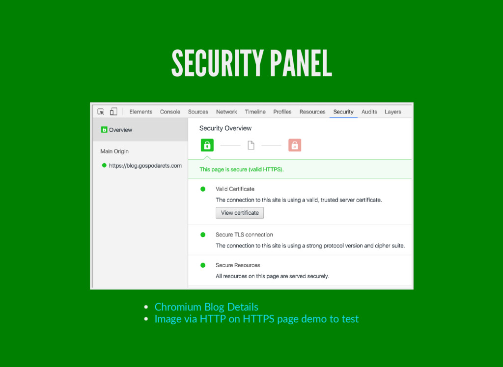 SECURITY PANEL Chromium Blog Details Image via ...