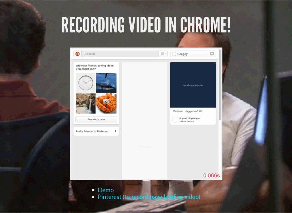 RECORDING VIDEO IN CHROME! Demo Pinterest (to r...