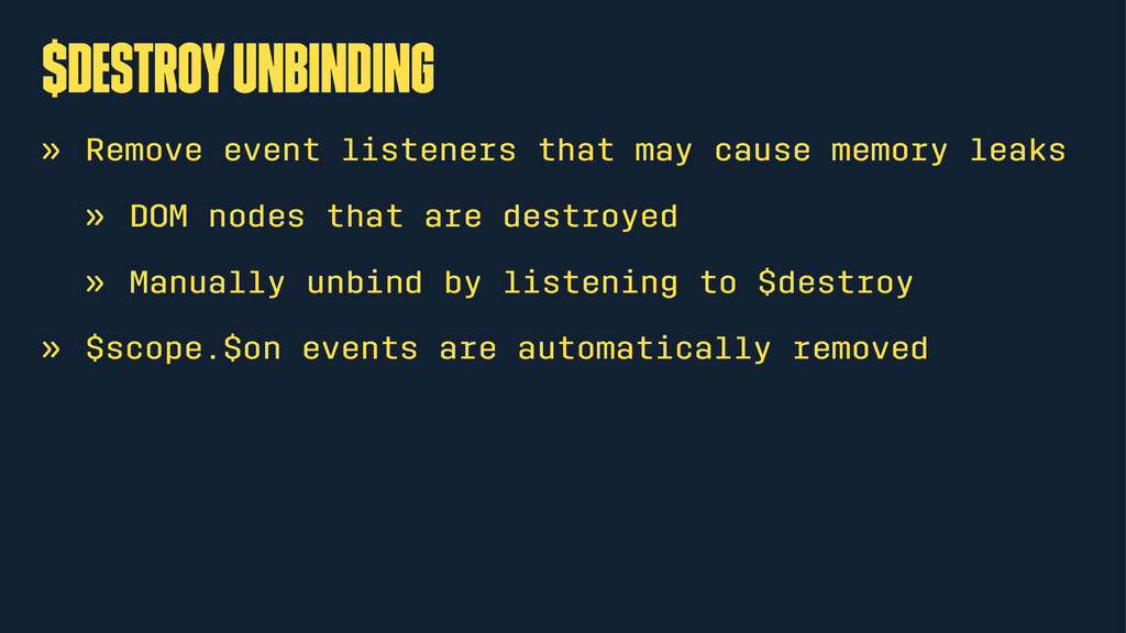 $destroy unbinding » Remove event listeners tha...