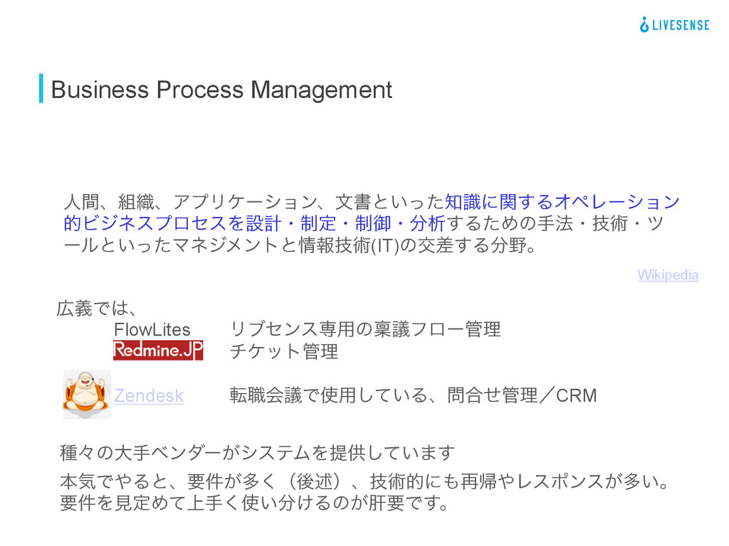 Business Process Management ਓؒɺ৫ɺΞϓϦέʔγϣϯɺจॻͱ͍...