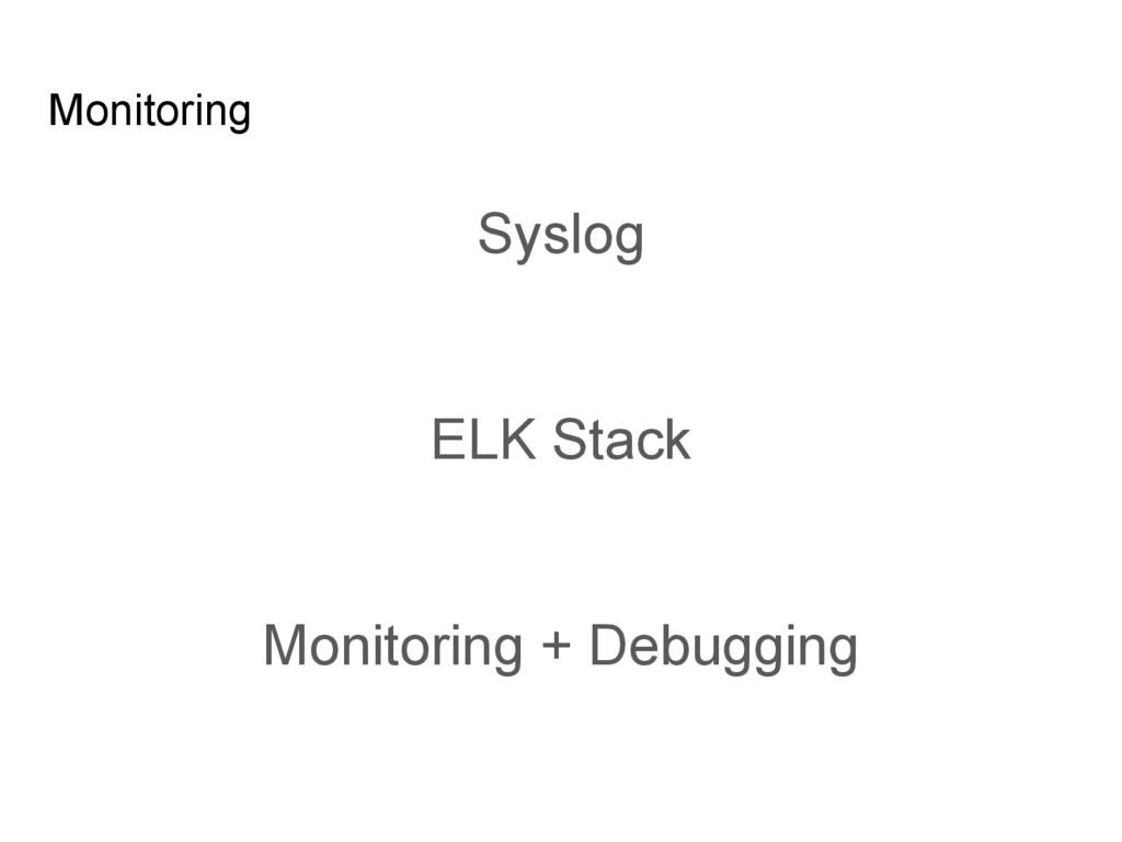 Monitoring Syslog ELK Stack Monitoring + Debugg...