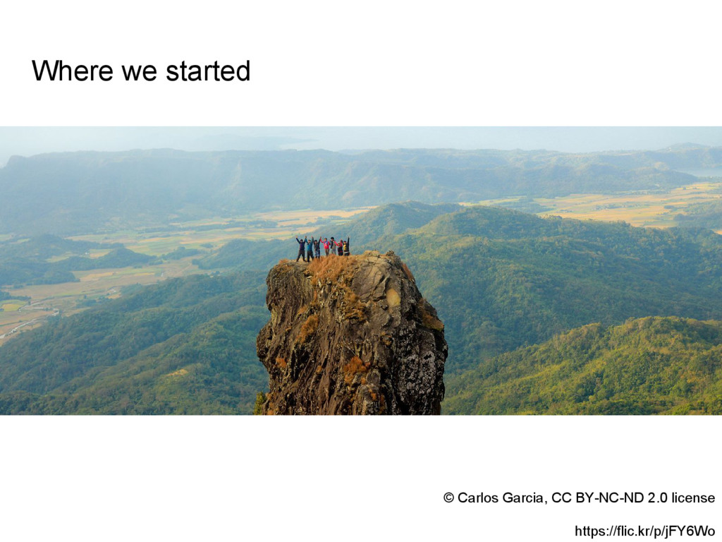 Where we started © Carlos Garcia, CC BY-NC-ND 2...