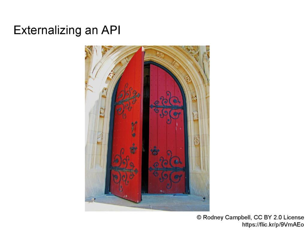 Externalizing an API © Rodney Campbell, CC BY 2...