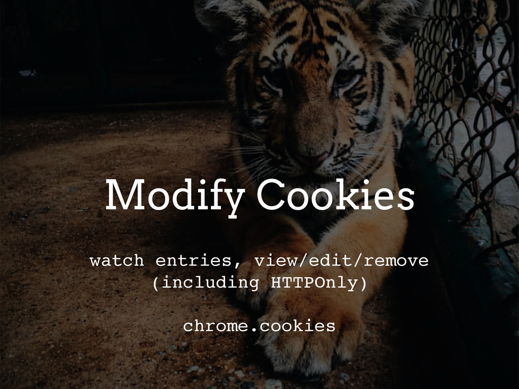 Modify Cookies watch entries, view/edit/remove ...