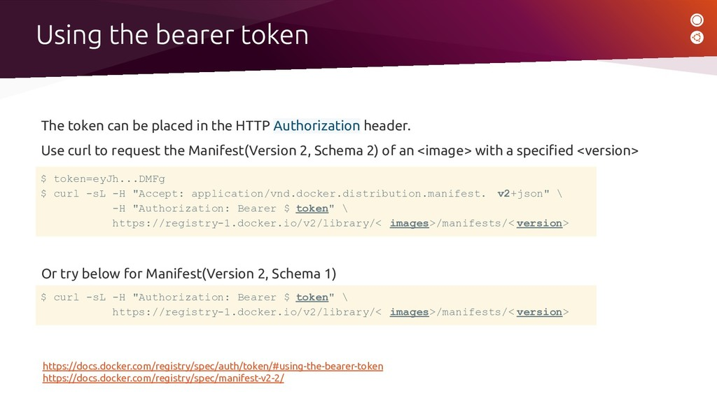 The token can be placed in the HTTP Authorizati...