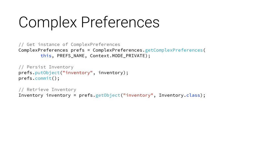 Complex Preferences // Get instance of ComplexP...
