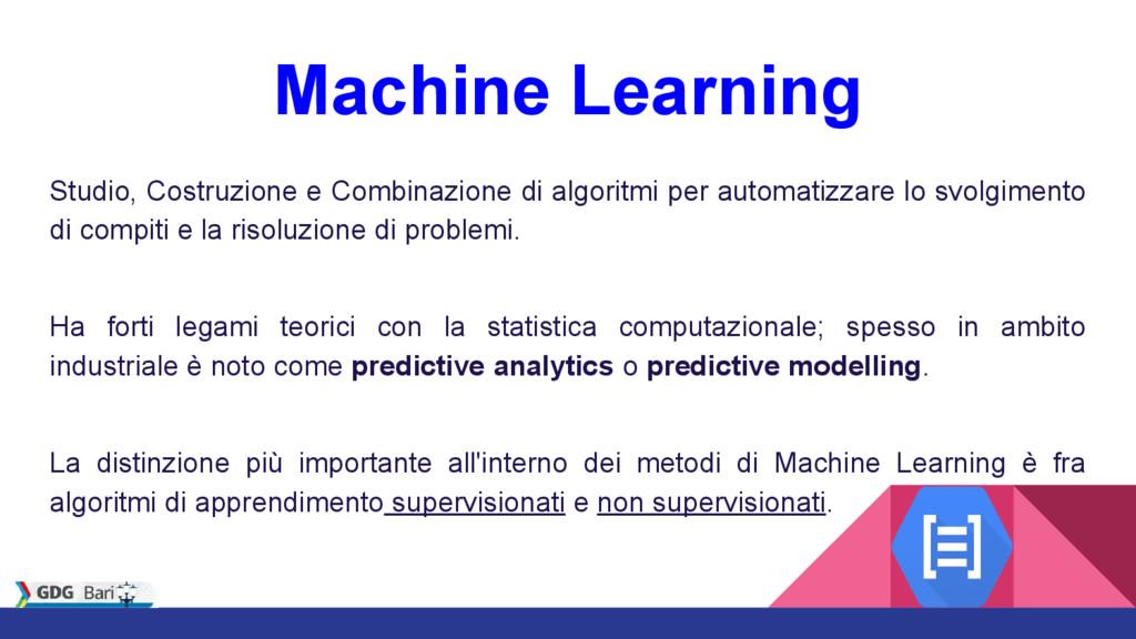 Machine Learning Studio, Costruzione e Combinaz...