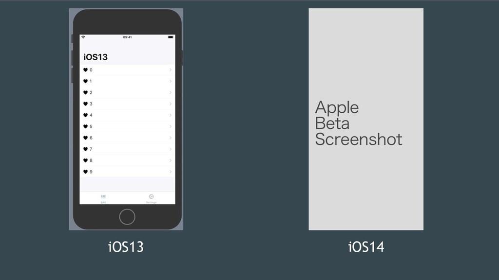 iOS13 iOS14