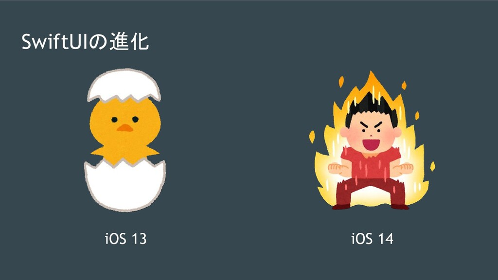 SwiftUIの進化 iOS 13 iOS 14