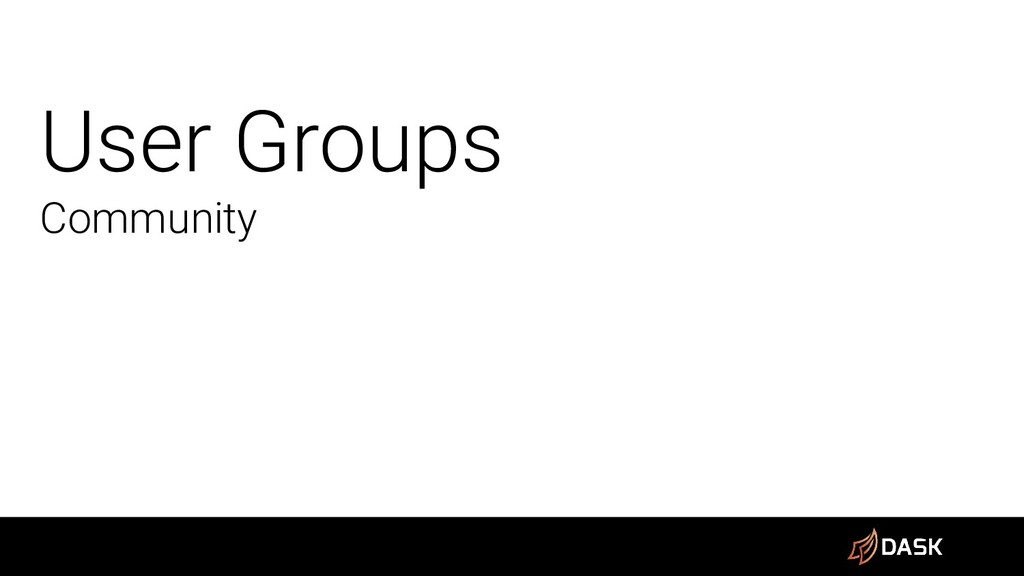 User Groups Community