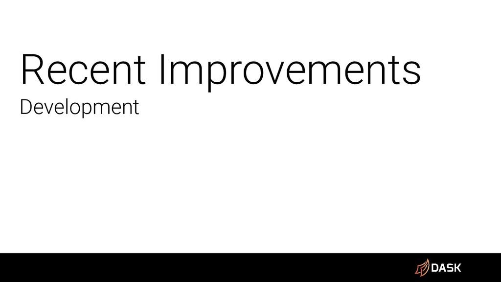 Recent Improvements Development