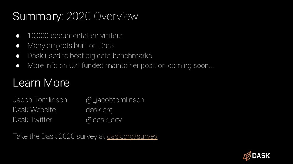 Summary: 2020 Overview ● 10,000 documentation v...