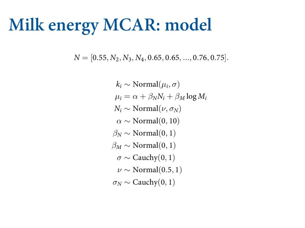 "Milk energy MCAR: model   .*44*/( %""5"" ""/..."