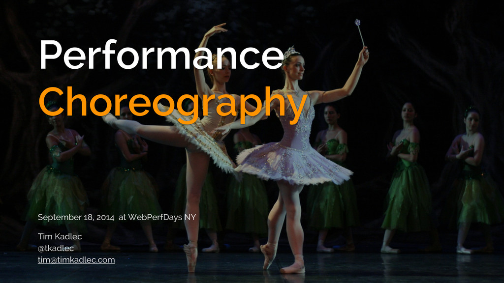 Performance Choreography September 18, 2014 at ...