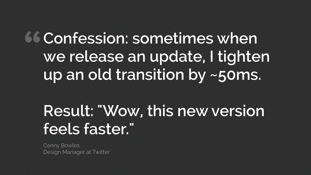 """Confession: sometimes when we release an updat..."