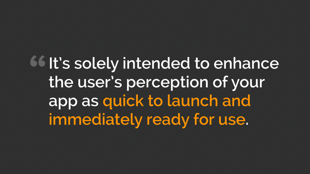 """It's solely intended to enhance the user's per..."