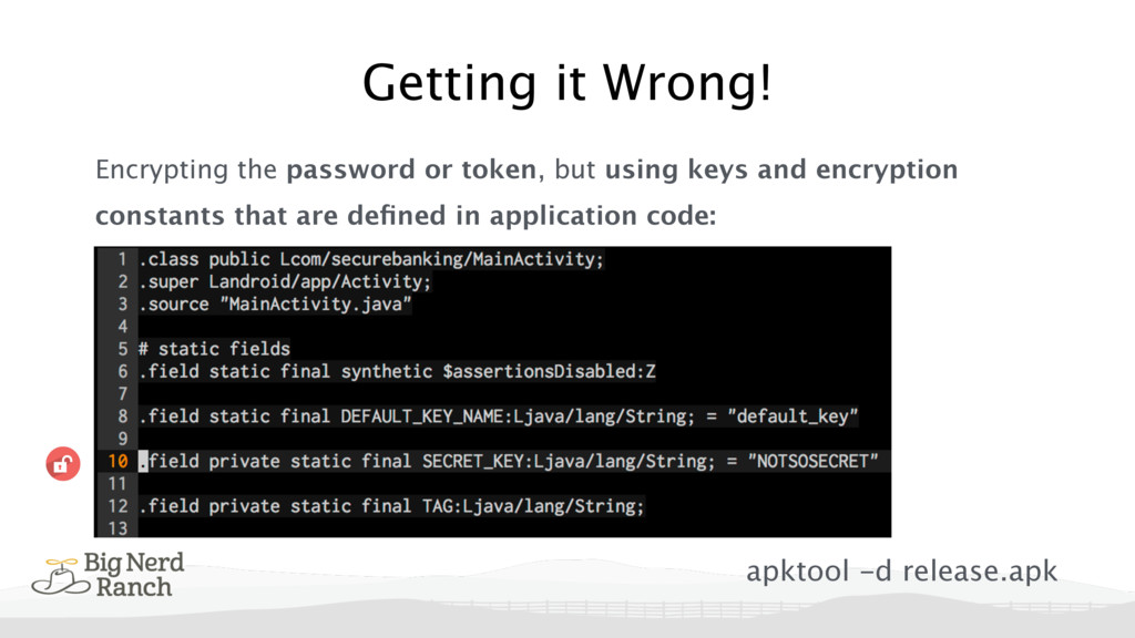 Encrypting the password or token, but using key...
