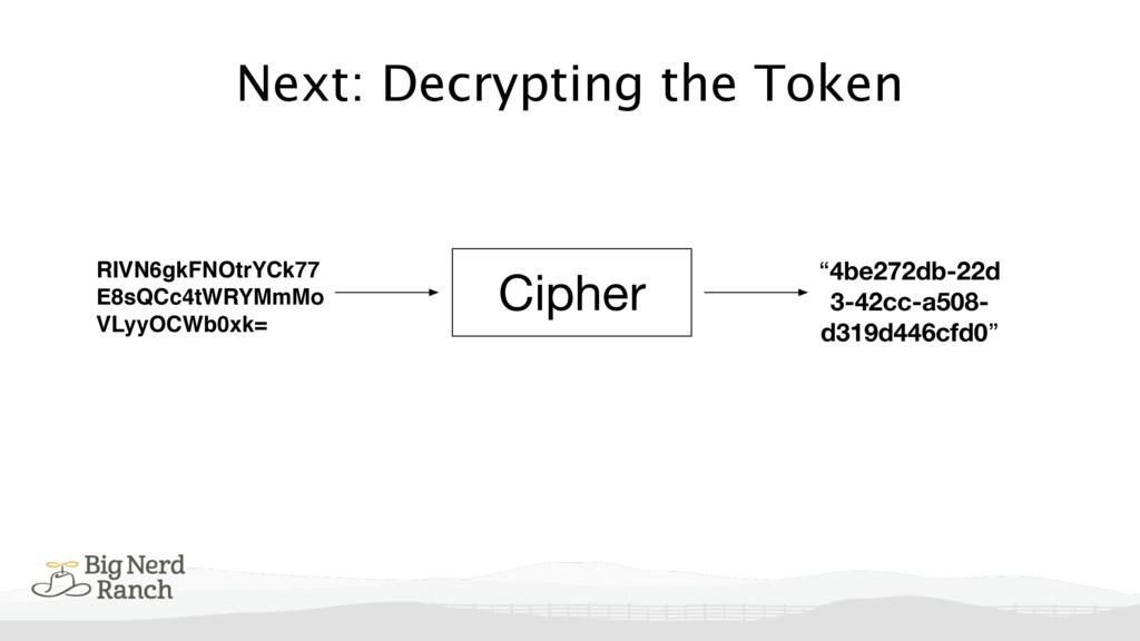 Next: Decrypting the Token Cipher RIVN6gkFNOtrY...