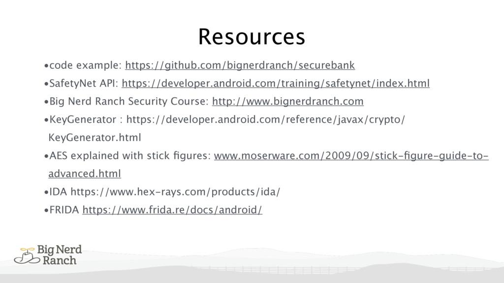 Resources •code example: https://github.com/big...