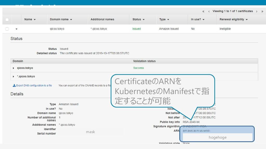 設定方法 EKS + ExternalDNS + ACM 25 mask Certificat...