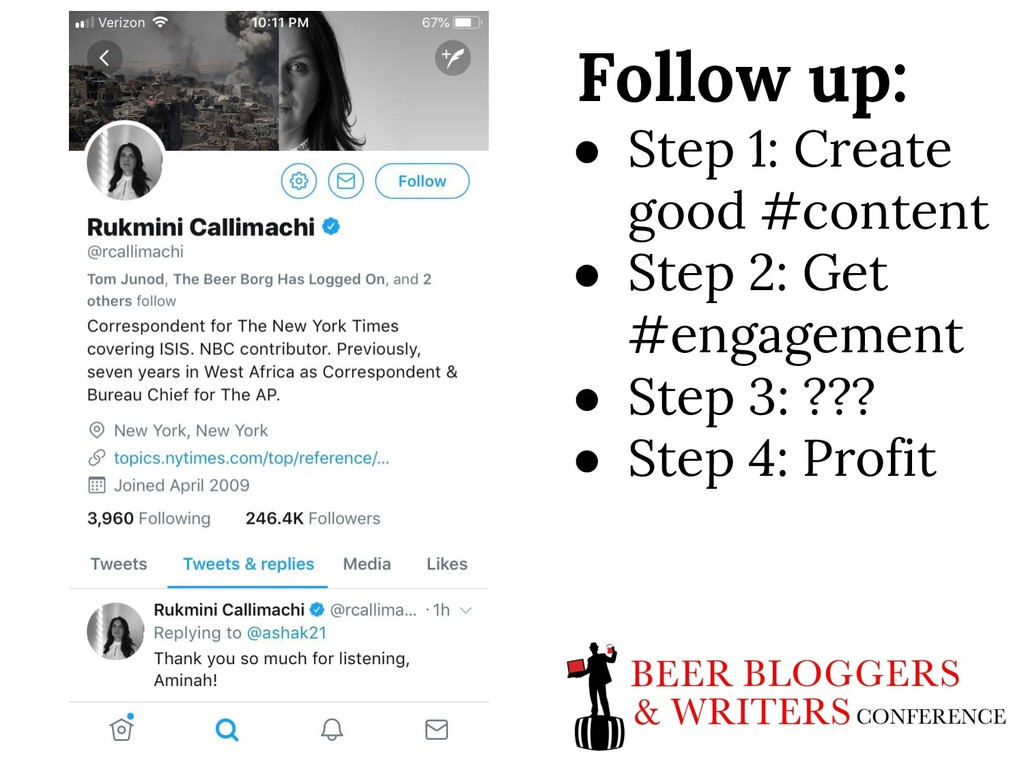 Follow up: ● Step 1: Create good #content ● Ste...