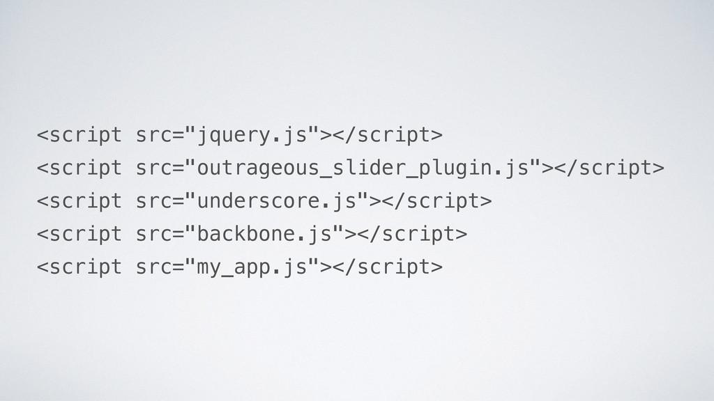 """<script src=""""jquery.js""""></script> <script src=""""..."""